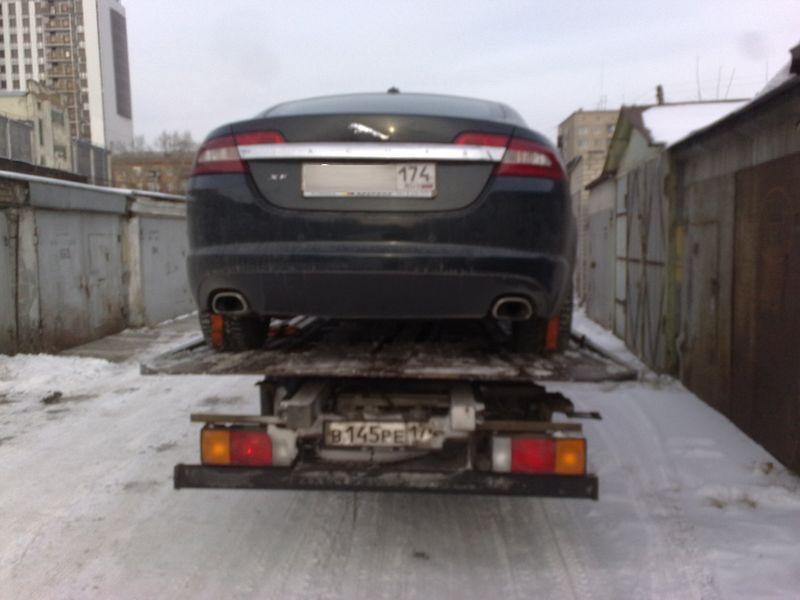 Эвакуация Jaguar в Челябинске